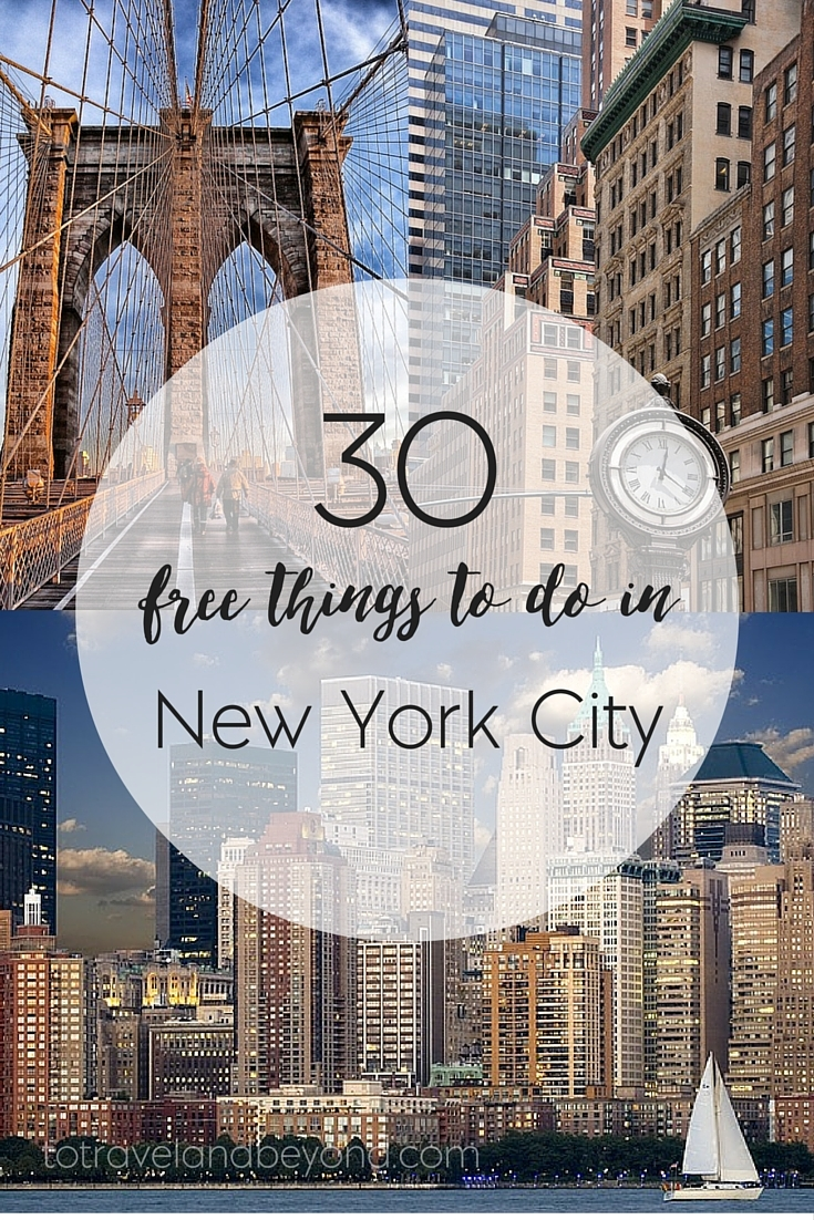 30 free things to do in new york city to travel beyond for Things to see and do in nyc
