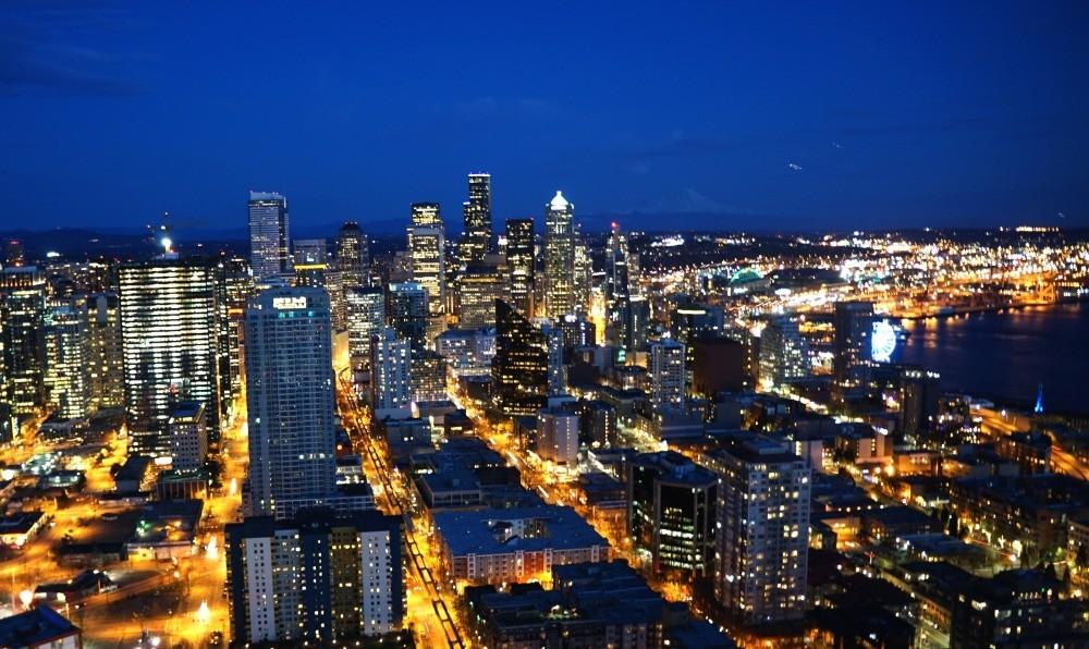 Seattle Washington After Dark