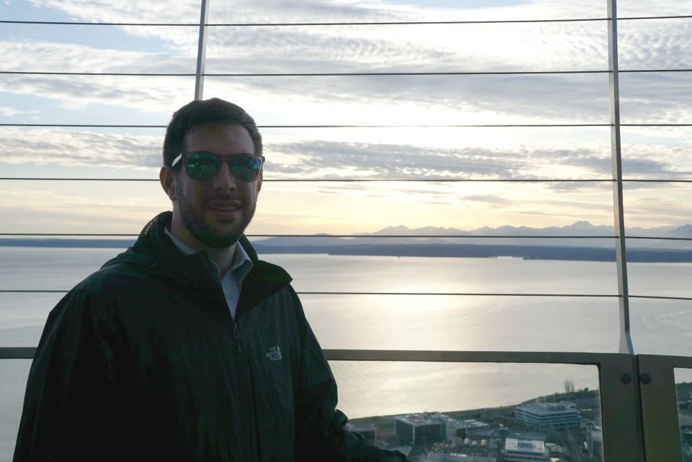 Top of the space needle in Seattle Washington