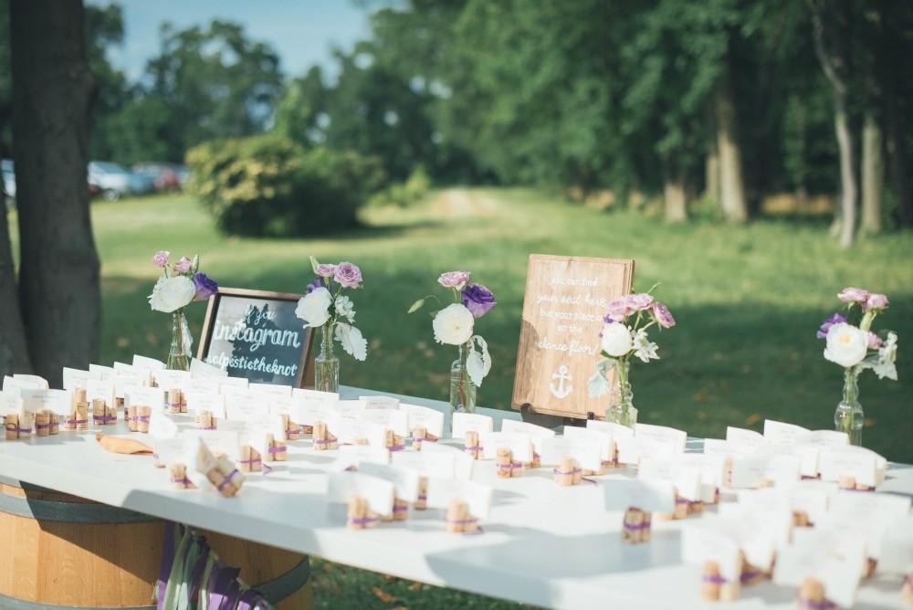 Purple and Mint Wedding Reception