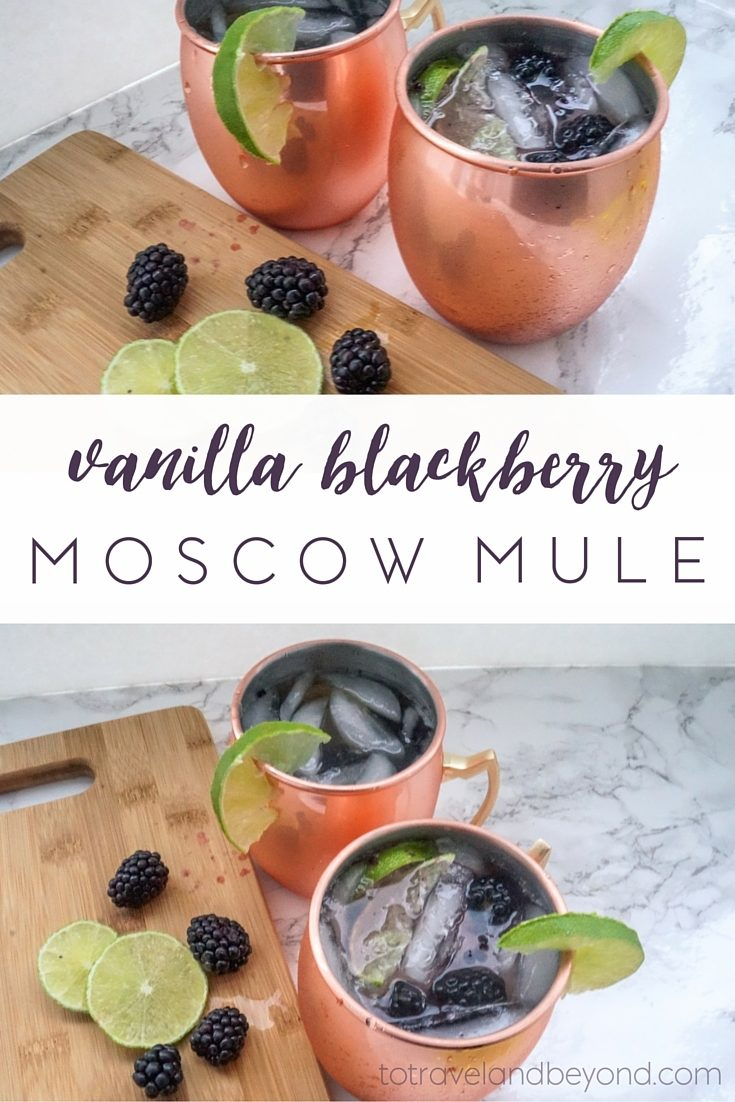 vanilla blackberry moscow mule to travel and beyond