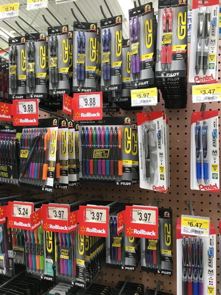 color-coding keeps me organized Pilot G2 Pens