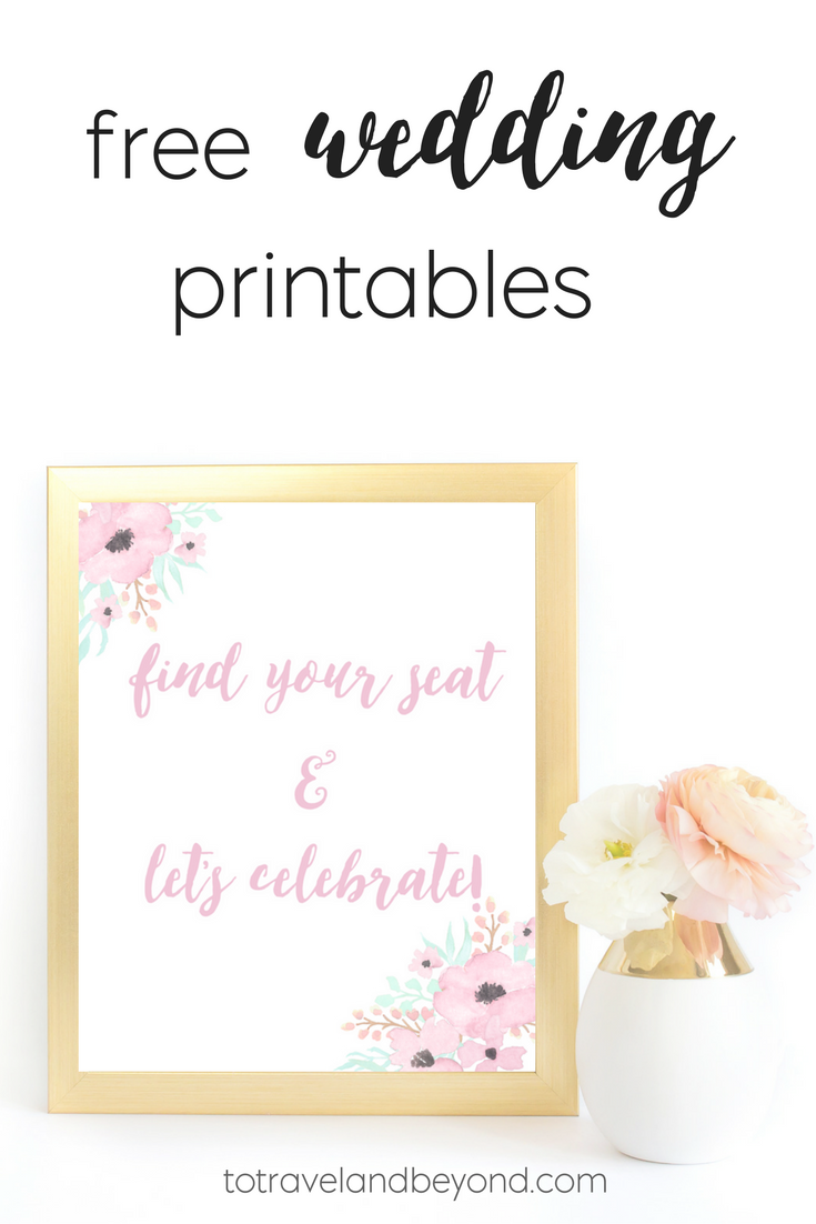 Breathtaking image inside free printable wedding signs