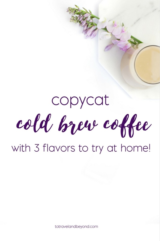 diycold brew coffee and flavors